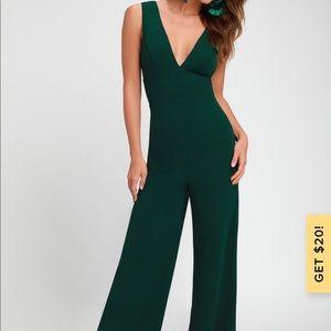 Beautiful hunter green jumpsuit- brand new!